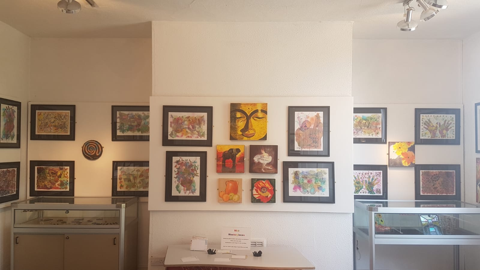Nila Shah Lally gallery exhibition with colourful wall art