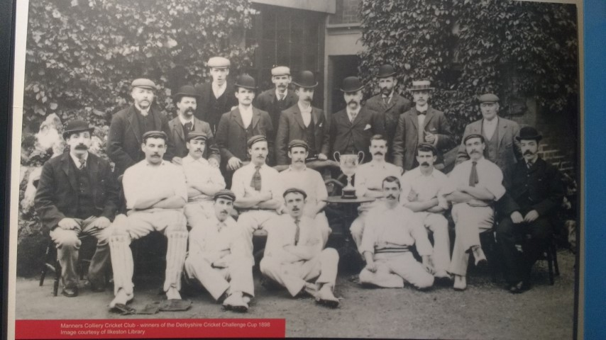 coal miners of Manners Colliery Cricket club players celebration photo 1898
